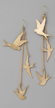 Monserat De Lucca - Three Dove Earrings
