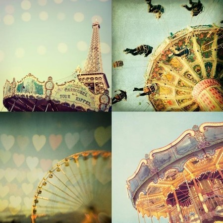 irene suchocki - Carnival Photos, Nursery Art, Summer Fair, Ferris Wheel, Merry-Go-Round - Carnivale - Set of four 5x5 prints