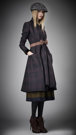 BURBERRY PRORSUM - Check Blanket Coat - Fall2012