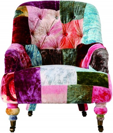 HALO - ANNE CHAIR VELVET PATCHWORK BOHEM