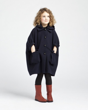 Lanvin - Lanvin childrenswear fall / winter 2012 supersized cape style coat.his is m