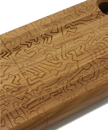 Keith Haring, COLORS - iPhone4 Bamboo Case