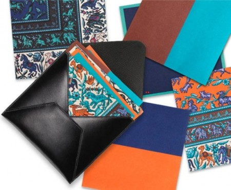HERMES - Leather & Scarf Print Origami Set