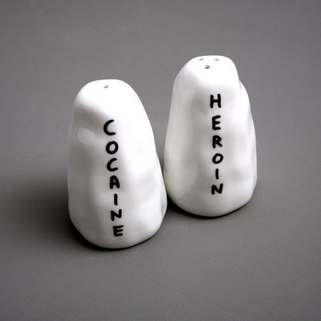 David Shrigley - Heroin and Cocaine Salt and Pepper