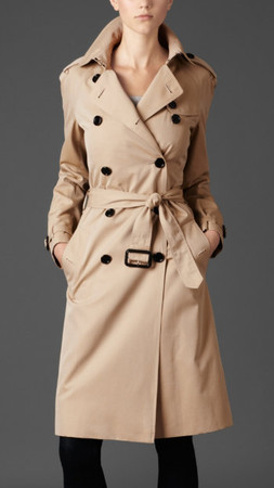 BURBERRY - long trench coat