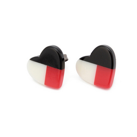 Jamberry - color block heart pierce