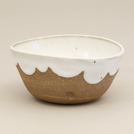 Amanda Gentry - Stoneware Bowl with Scalloped Glaze, white