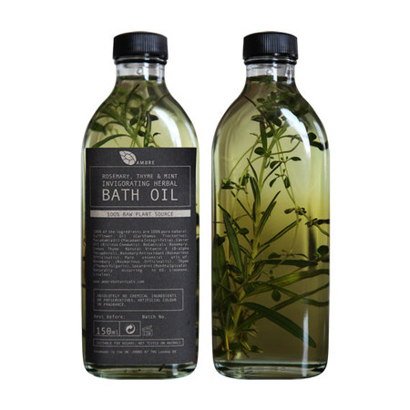 AMBRE - Rosemary, thyme and mint invigorating herbal bath oil 150ml