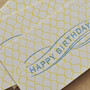 SAB LETTERPRESS - HAPPY BIRTHDAY