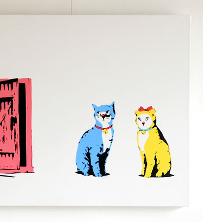 Kurry - Suddenly one morning -Blue and Yellow cats