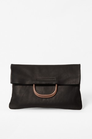 cos - SQUARE LEATHER BAG