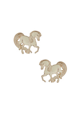 TOPSHOP/TOPMAN - Pony Stud Earrings