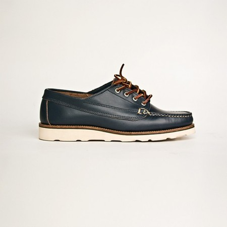 Oak Street Boot Maker - Navy Vibram Sole Trail Oxford
