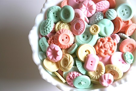Peppermint Candy Buttons 50