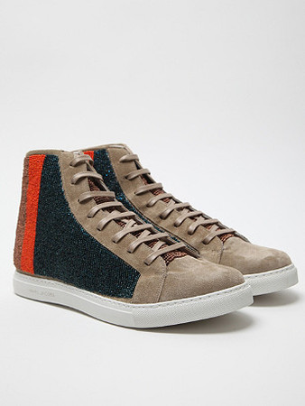 MARC JACOBS - Beaded High Top Sneaker