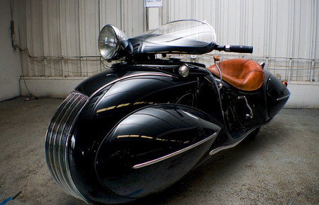 Henderson Motorcycle - 1930 Custom Built Art Deco Henderson Motorcycle