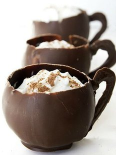 Chocolate Mousse in Chocolate Mugs