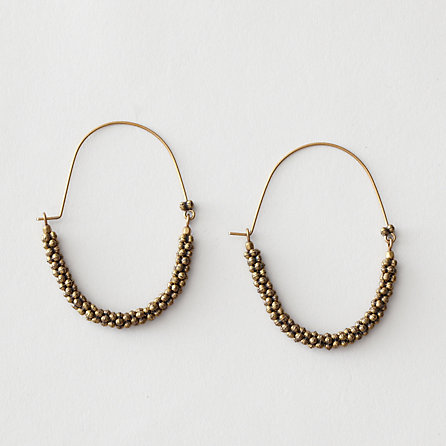 bijoux isabel marant marfa bronze hoop earring sumally. Black Bedroom Furniture Sets. Home Design Ideas