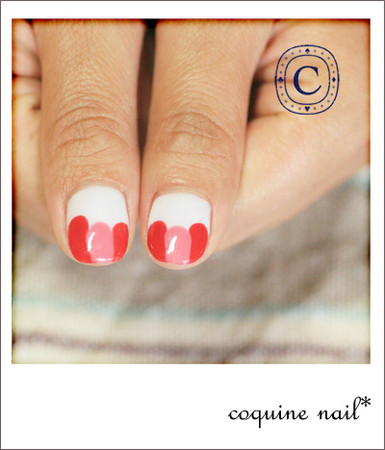 coquine nail - Pink&red