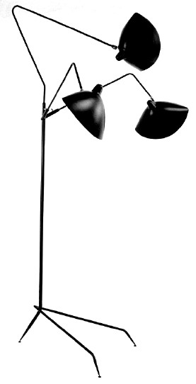 Serge mouille lampadaire 3 lumieres sumally - Lampadaire serge mouille ...