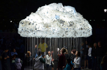 Caitlind Brown - CLOUD made from 6,000 light-bulbs
