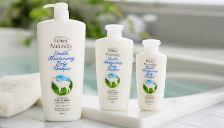 Leivy, Naturally - Double Moisturising Body Shampoo with Goat's Milk & Milk Protein