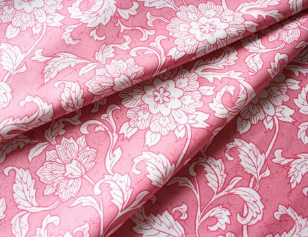 blend fabrics - Vintage Summer Gardenias Red