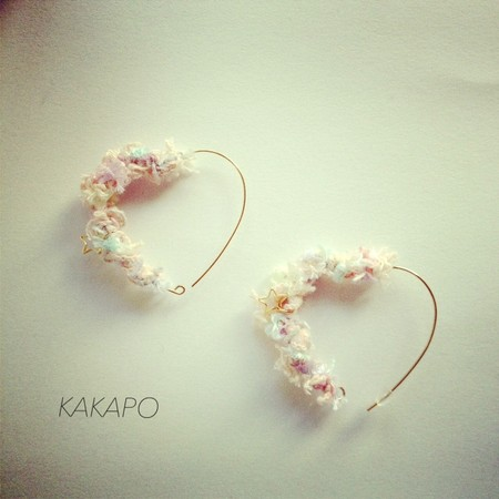 KAKAPO - Pastel Heart pierce