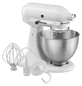 KitchenAid - Classic Series 4.5 Quart Tilt-Head Stand Mixer K45SSWH