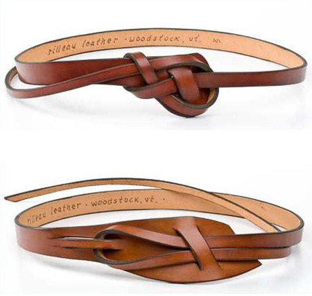 Rilleau Leather - Knotted leather belt