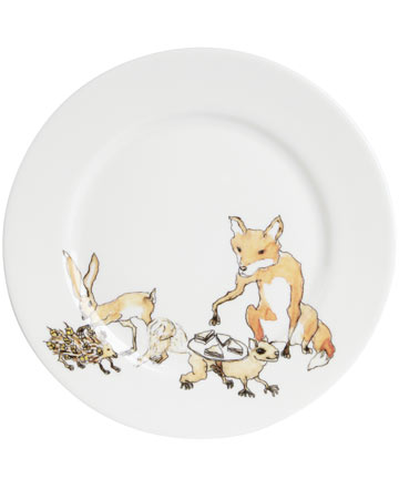 Liberty London - Animal Tea Party Side Plate, Mellor Ware
