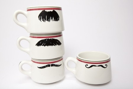 Mustache Coffee Cups