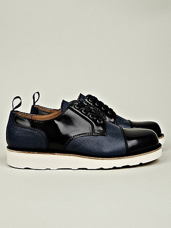 Carven - LEATHER MIX SHOE WITH VIBRAM SOLE