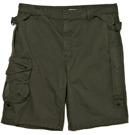 bottega veneta - camp canvas cotton shorts