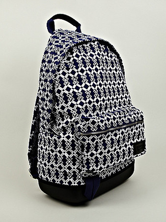 EASTPAK, KRIS VAN ASSCHE - Cotton Backpak in Navy x White