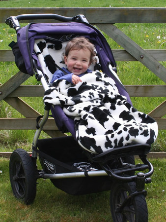 Buggy Snuggle - Cow Far Footmuff