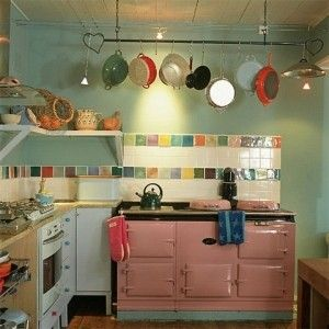 colourful tiles kitchen 可愛いキッチン sumally サマリー 2374