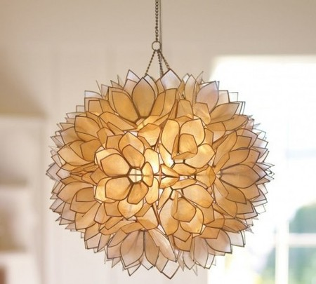 Pottery Barn - Capiz Pendant Light