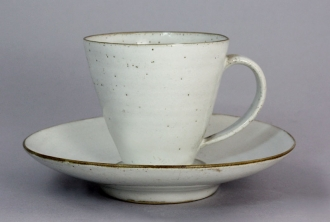 Lucie Rie and Hans Coper - Cup and Saucer, circa 1952