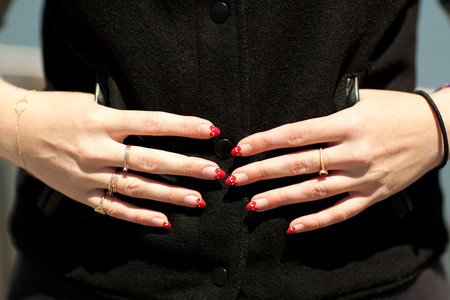 Elizabeth Monson - Comme des Garcons Play-Inspired Nails