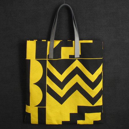 Darkroom  - Aztec Screen Printed Yellow Tote - Large