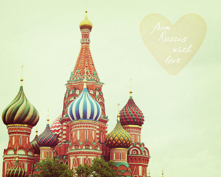 happeemonkee - Russia With Love. Moscow. St. Basil's Cathedral. Russian Wall Art. Office Home Decor. St Basils. Red Green. Fine Art Photography 8x10""