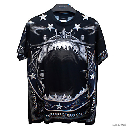 GIVENCHY - 2012AW Shark & Mermaid Print T-Shirt