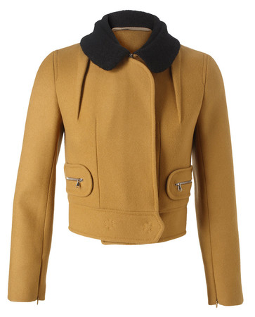 CARVEN - WOOL-CASHMERE CROPPED JACKET
