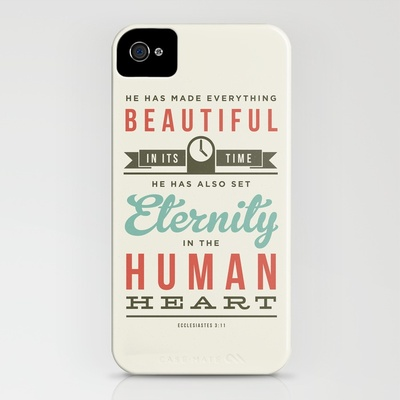 Society6 - He has made everything beautiful iPhone Case