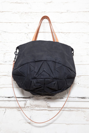 GenevieveSavard  - dark crystal tote - waxed cotton and leather