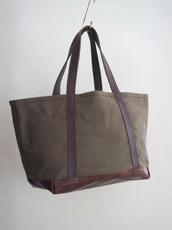 ARTS&CRAFTS - aging canvas tote