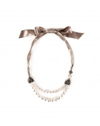 LANVIN - Glass pearl choker with crystal embellishments