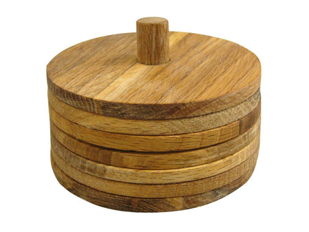 Sagaform - Oak Coaster 6pc set