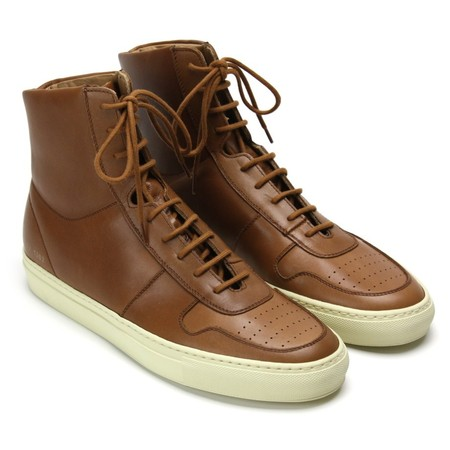 Vintage Basketball Sneakers Cuoio